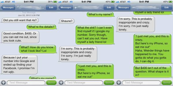 So, I went on Craigslist to buy an iPhone… Funny Chat foto for Fb Share