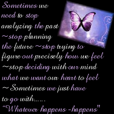 Sometimes we Need to Stop Analyzing the Past