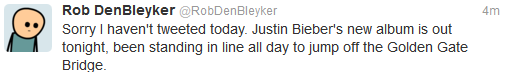 Standing in line for Bieber's new album Funny Quote Picture