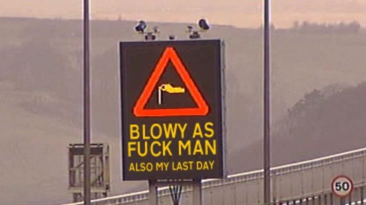 Stay classy bridge sign control guy Funny Image