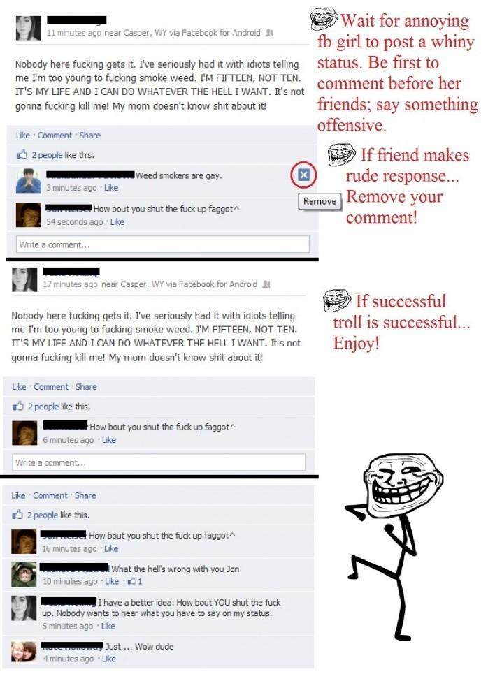 Taking trolling to a whole new level on Facebook. Funny CHat Picture