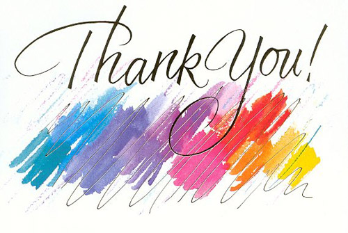 Thank you Colourful Graphic