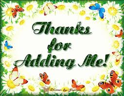 Thanks for Adding me ! Green Graphic for Fb Share