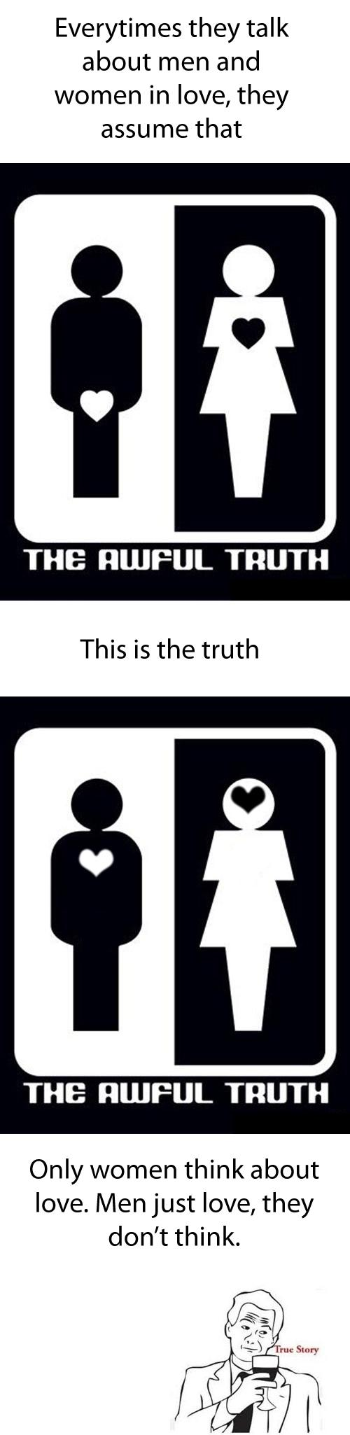The truth about love Funny Image