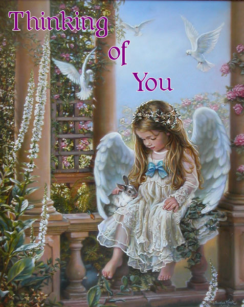 Thinking of You Angel Graphic for Fb Share