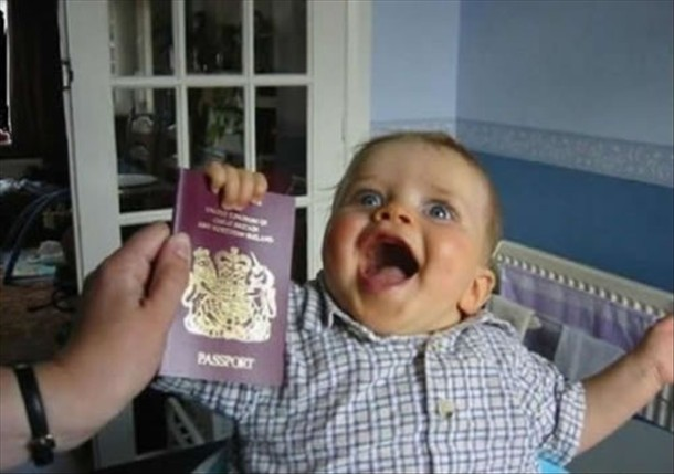 This kid is going places Funny Baby Image