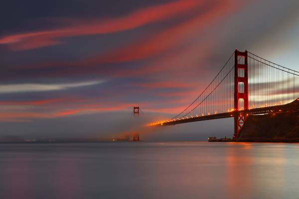 Thought This was a Pretty Neat Picture of the Golden Gate Bridge. Funny Things Picture