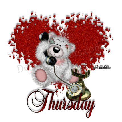 Thursday Teddy Graphic for Friendster