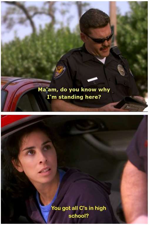 Traffic stop Funny Quote Picture