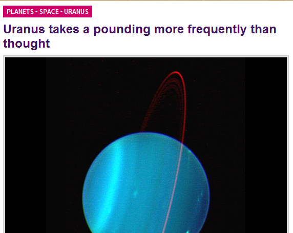 Uranus not even once Funny picture