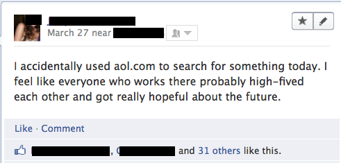 Using AOL as your search engine Funny Quote Picture