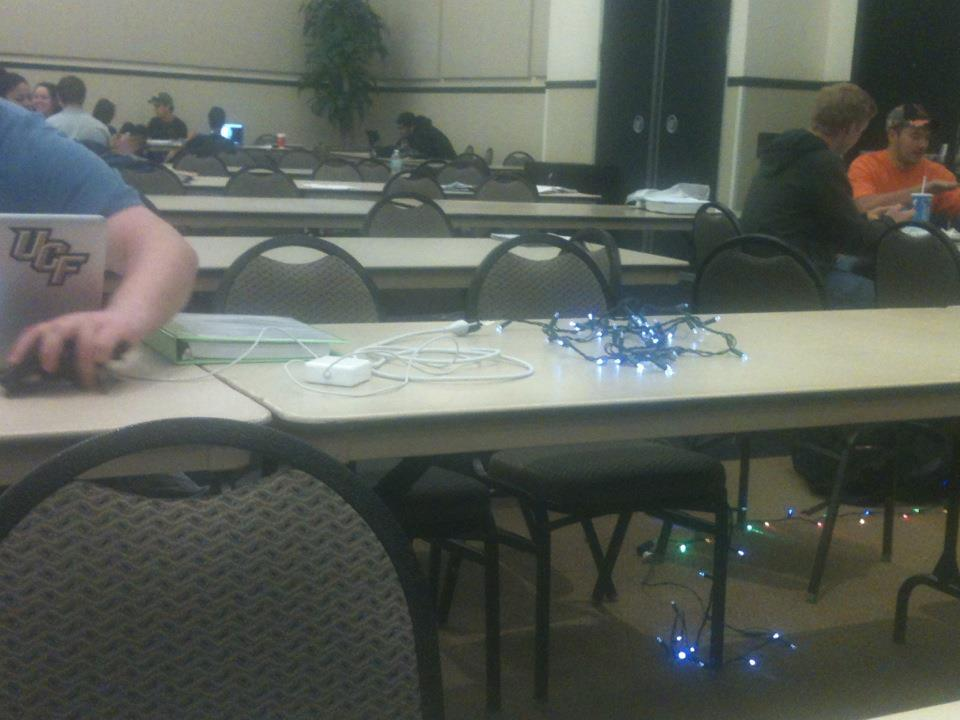 Using christmas lights as an extension funny Image