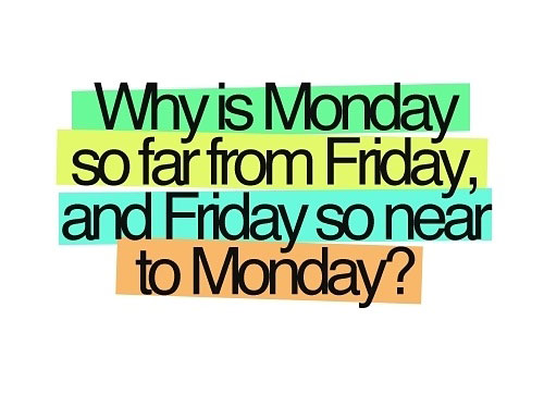 Why is Monday so far From Friday Graphic for fb Share