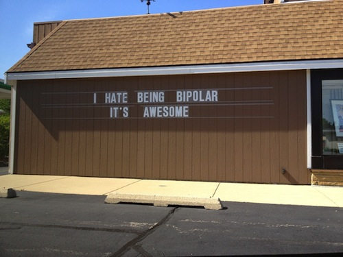 WIN Being bipolar Funny Quote Picture
