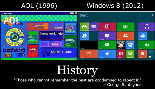 Windows 8 vs AOL Funny Image