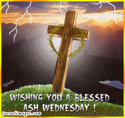 Wishing you a Blessed ash wednesday