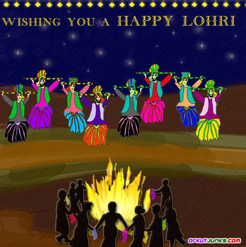 Wishing you a Happy Lohri Night Picture