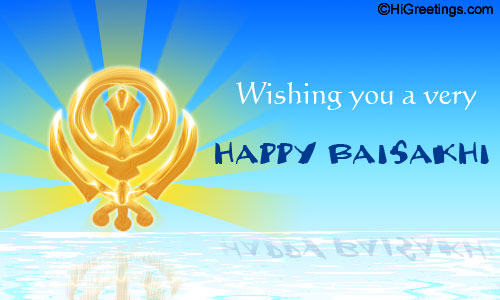Wishing you a Very Happy Baisakhi