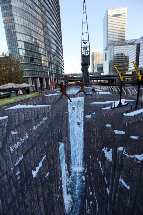 Worlds largest 3D street art Funny Picture