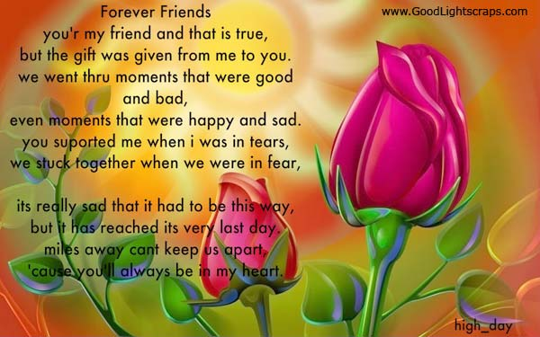 Friends Forever Quotes Poems : Colorful friends forever poem poems graphics