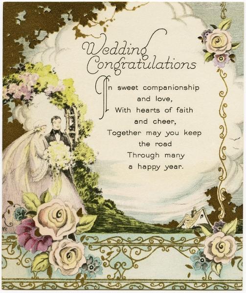 Beautiful Wedding Greetings Cards